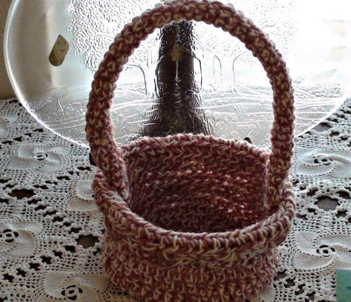 Cómo hacer un patrón de canasta de crochet simple gratis