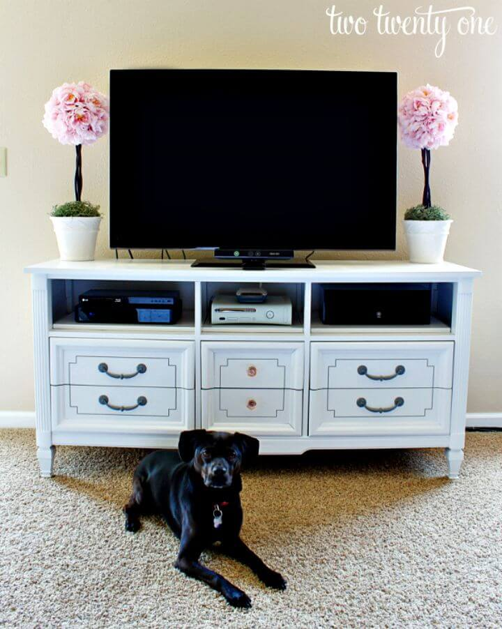 Tutorial de cómo convertir una cómoda en un soporte de TV