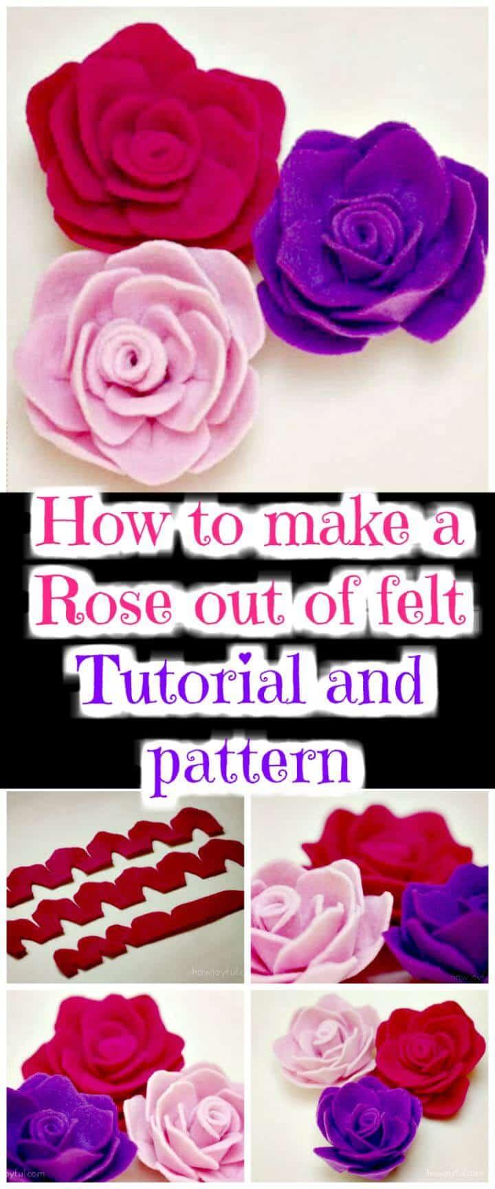 DIY fieltro rosa