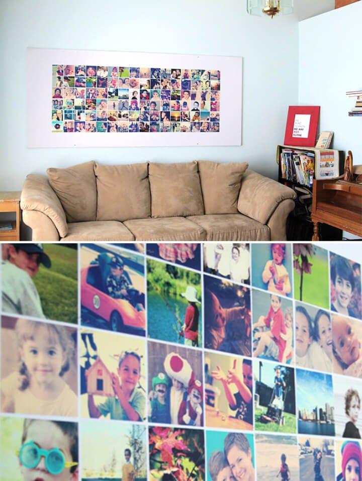 Enorme tablón de anuncios de pared de fotos de bricolaje