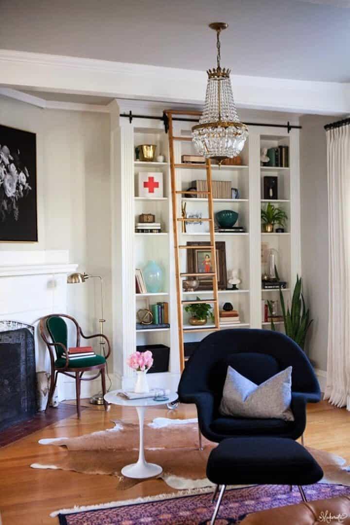 Estanterías Ikea Billy Hackear la sala de estar de Laura