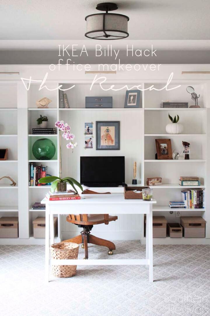 Ikea Hack construido en estanterías Billy