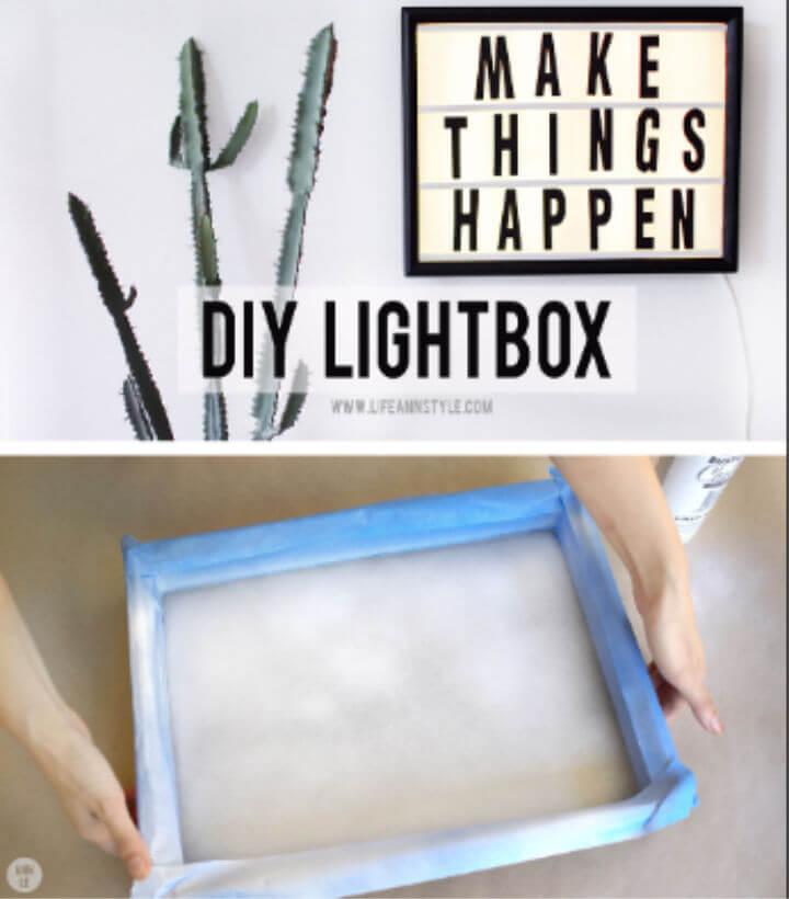 Caja de luz LED de bricolaje económica