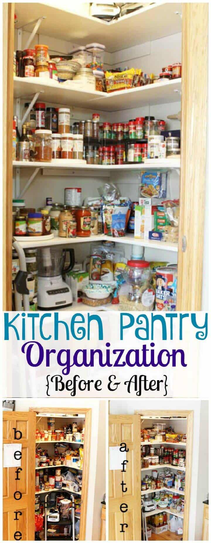 Organización de la despensa de la cocina antes y después
