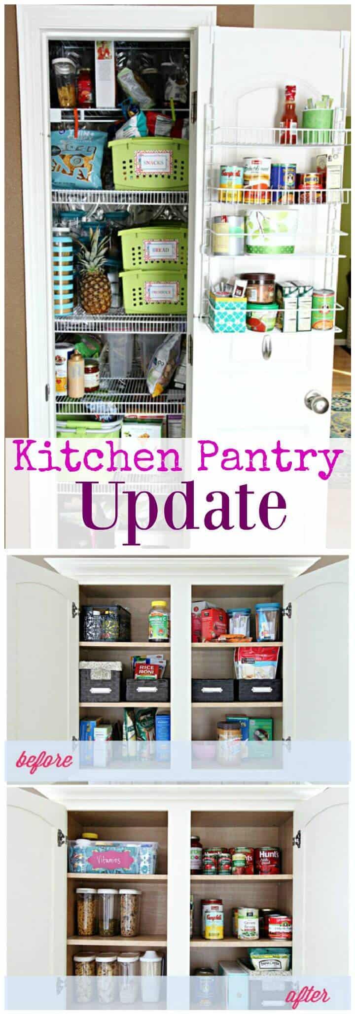 Actualización de la despensa de la cocina