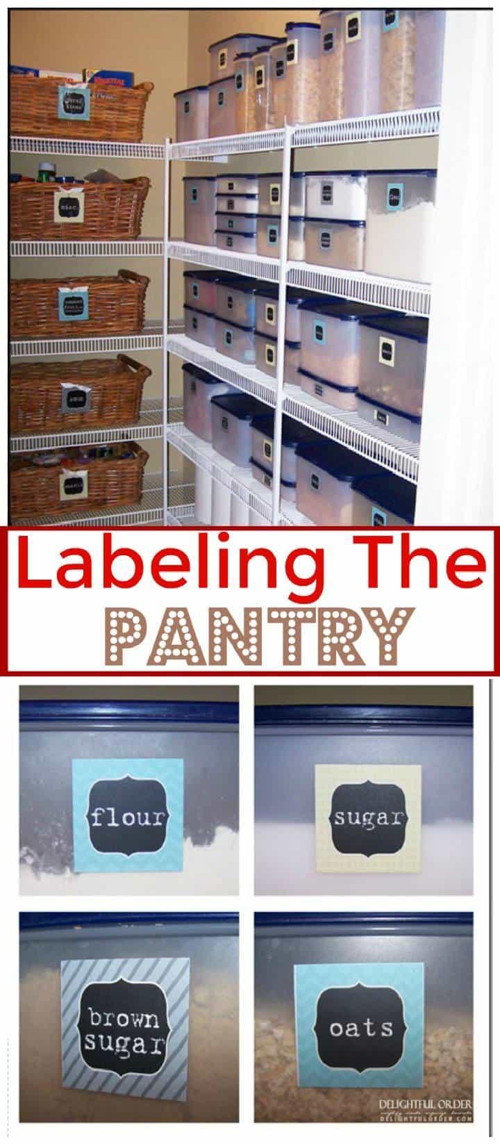 Etiquetado de la despensa