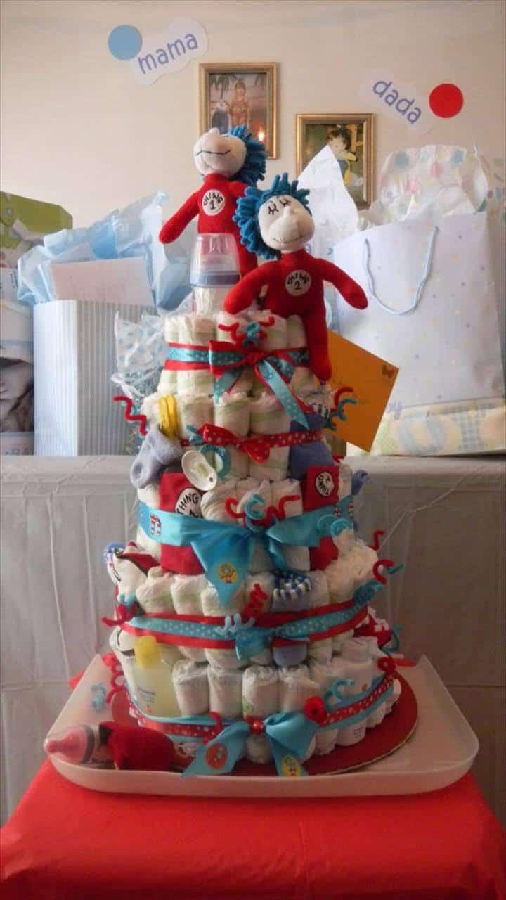 torre como pastel de pañales