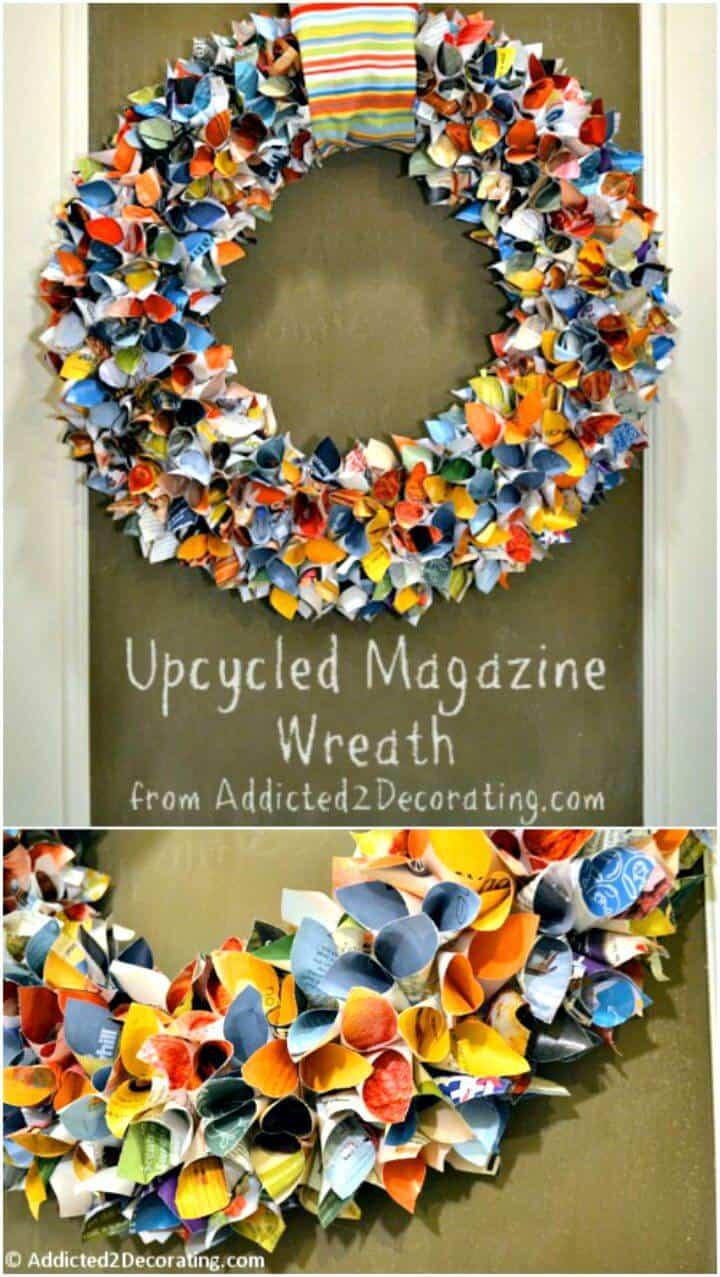 Cómo hacer un hermoso tutorial de corona de revista reciclada