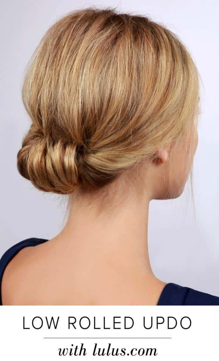 Tutorial de peinado updo enrollado bajo