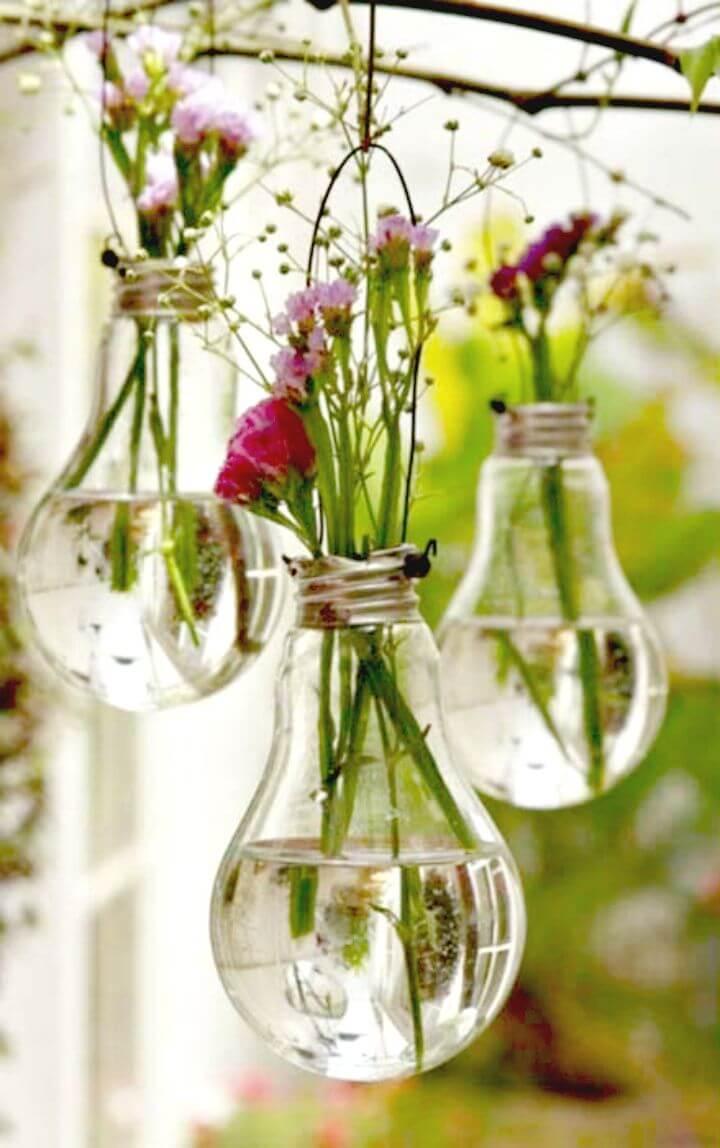 Hacer una maceta de bombillas colgante - Bombillas de reutilización de bricolaje