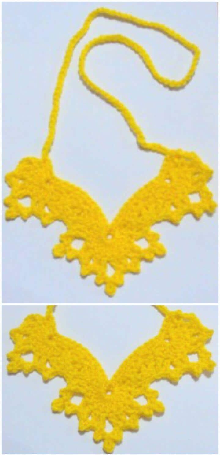 Patrón de collar de alas de ángel de ganchillo gratis