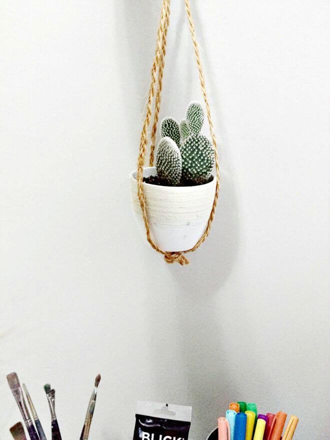 Colgador de plantas suculentas fácil de bricolaje