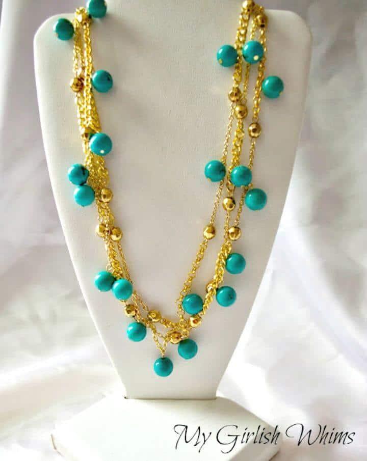 Bonito collar de cadena y dije de bricolaje para regalo de boda