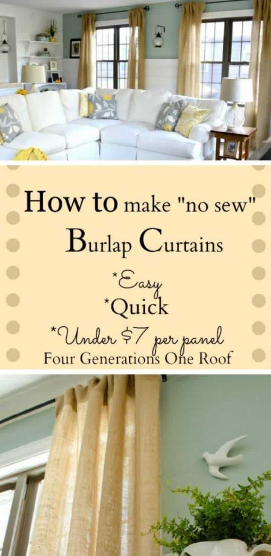 Cómo hacer cortinas con arpillera