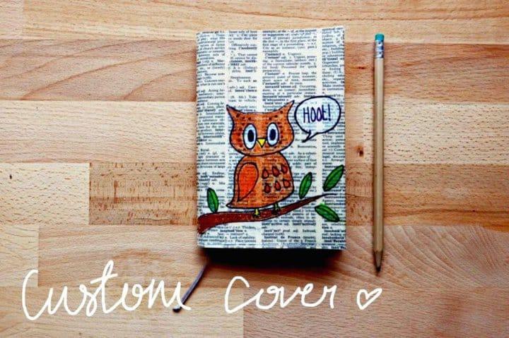 Haga su propia funda de cuaderno personalizada - DIY