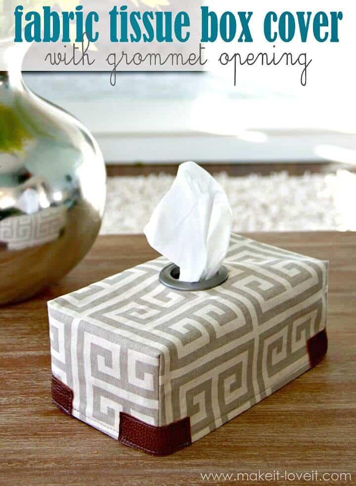 Adorable cubierta de caja de pañuelos de tela DIY