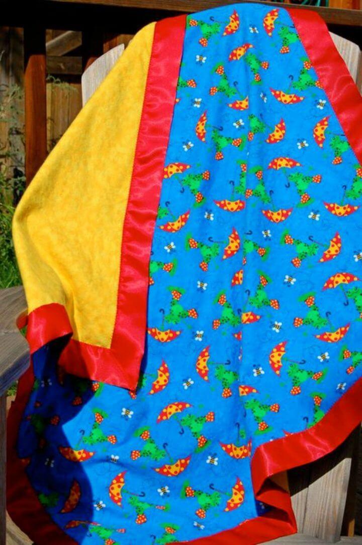 Hacer una manta de franela para bebé con encuadernación de satén