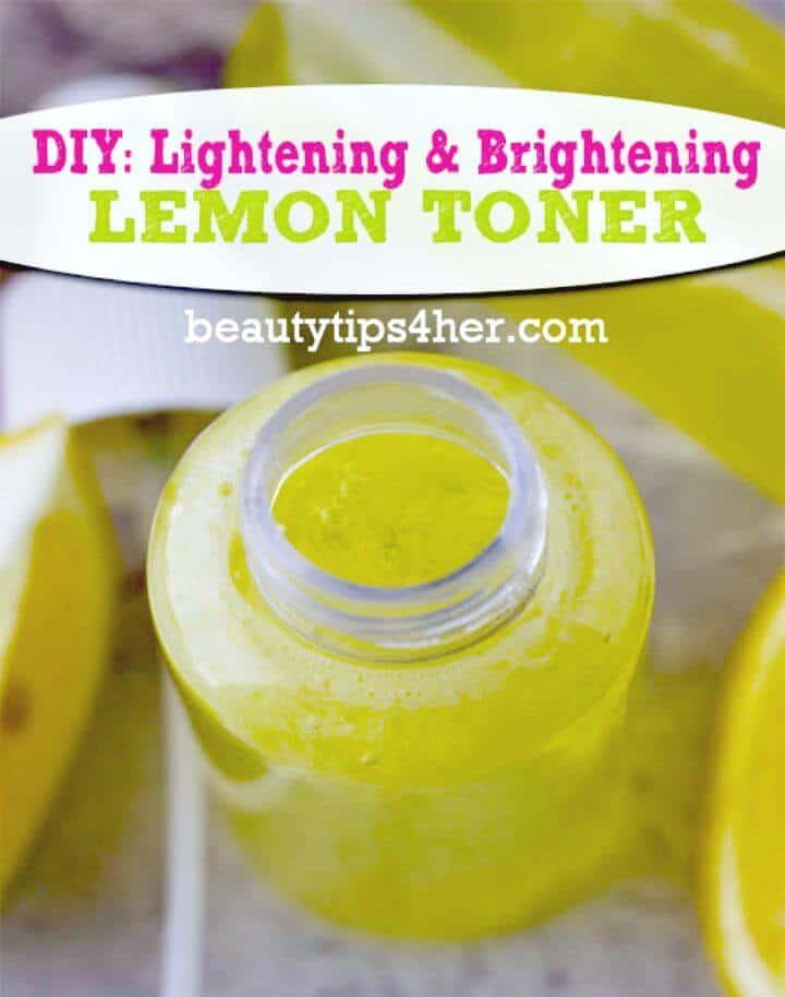 Lemon Toner For Lighter, Brighter Skin Recipe - DIY