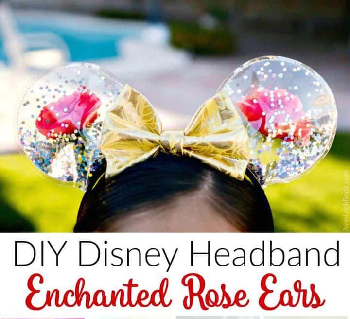 Hacer rosas encantadas con orejas de Mickey