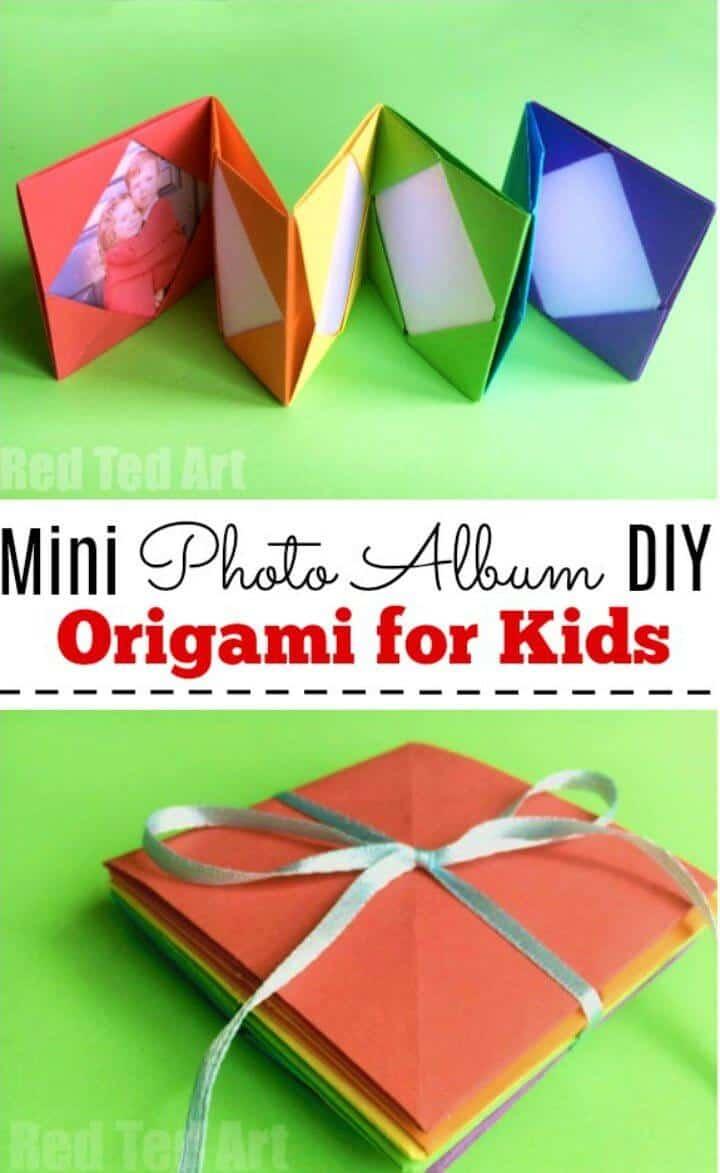 Hacer un mini álbum de fotos de origami