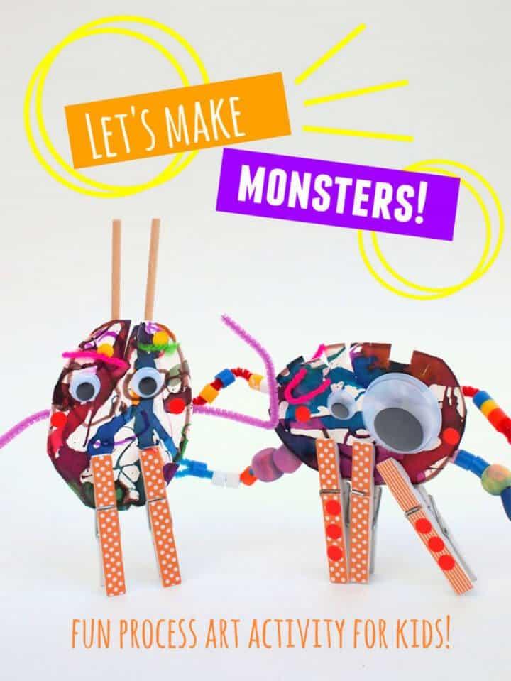 Hacer esculturas de monstruos con niños