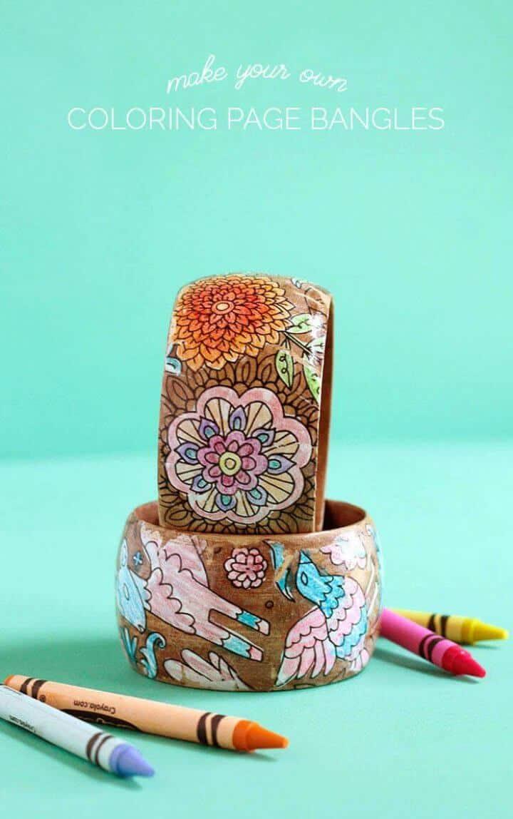 Hacer pulseras para el día de la madre con páginas para colorear