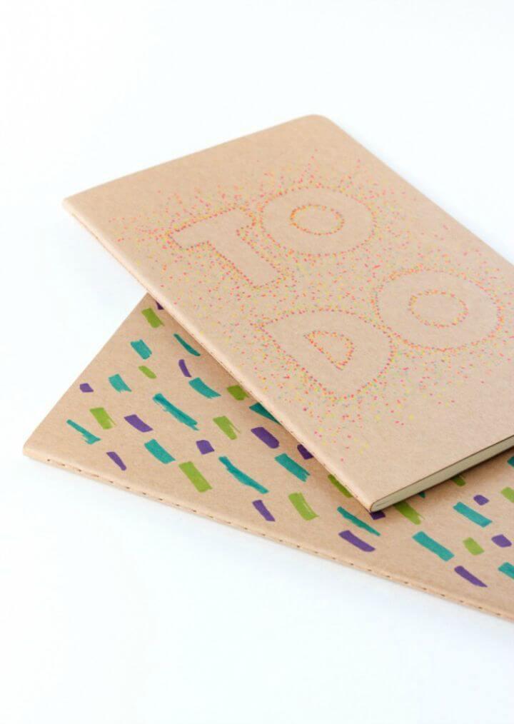 Hacer un cuaderno de puntillismo con Sharpie - DIY