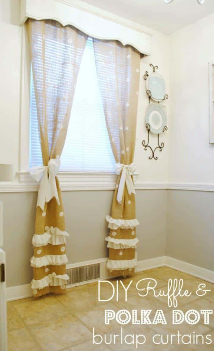 Hacer cortinas de arpillera
