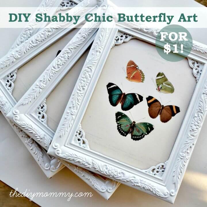 Arte de mariposa DIY Shabby Chic por $ 1