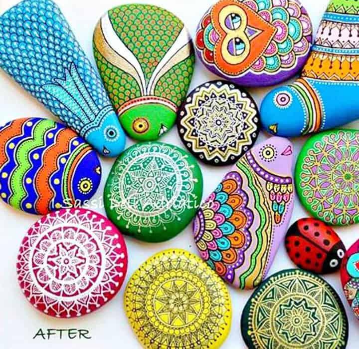 Cómo hacer bricolaje con piedras pintadas con Sharpie