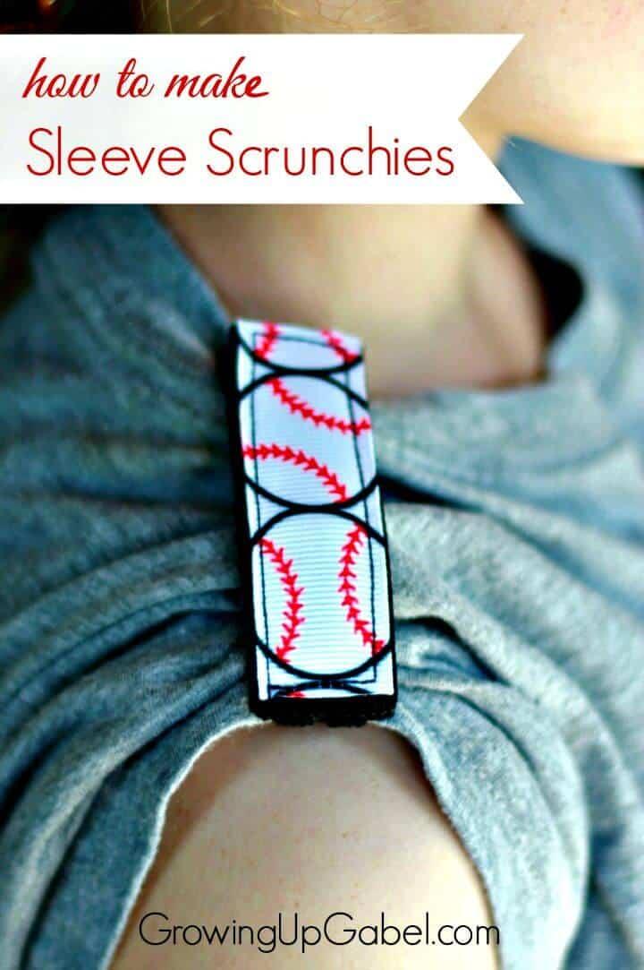 Cómo hacer gomas para el pelo con mangas: manualidades de béisbol de bricolaje