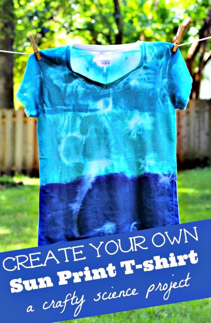 Hacer una camiseta con estampado de sol - DIY