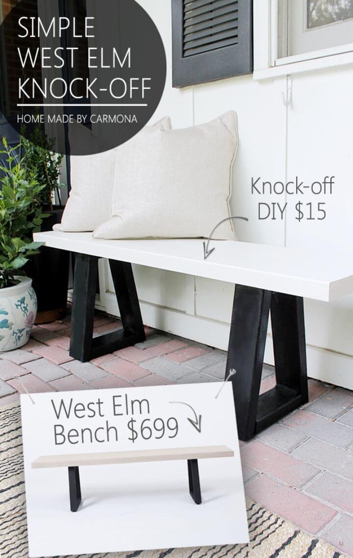 Hacer que West Elm Bench sea una imitación