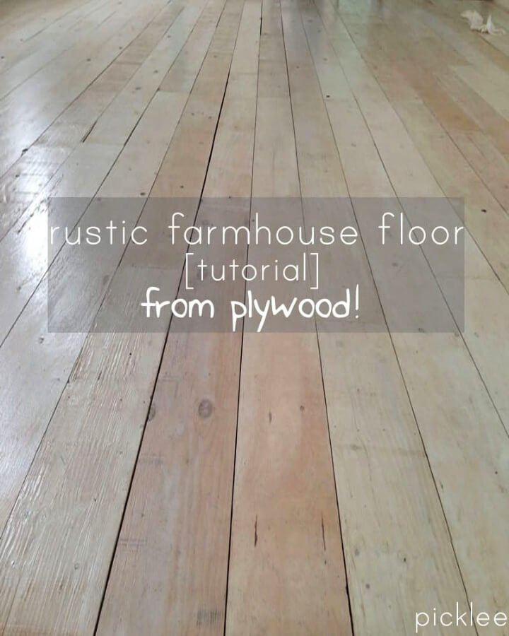 Hacer un piso de tablones anchos de madera contrachapada