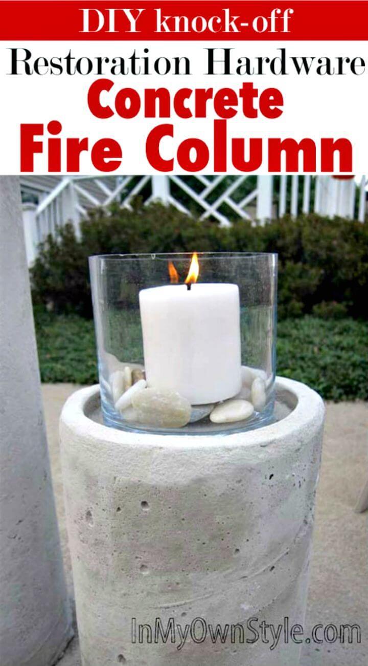 Columna de fuego de hormigón de bricolaje