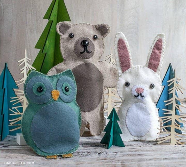 Marionetas de fieltro para niños