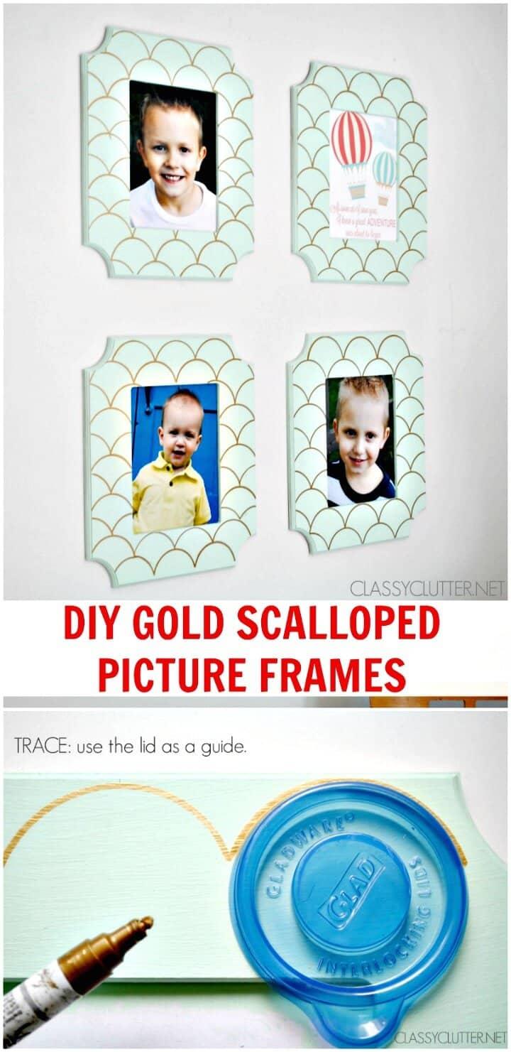 Cómo hacer marcos festoneados de oro para imprimir gratis