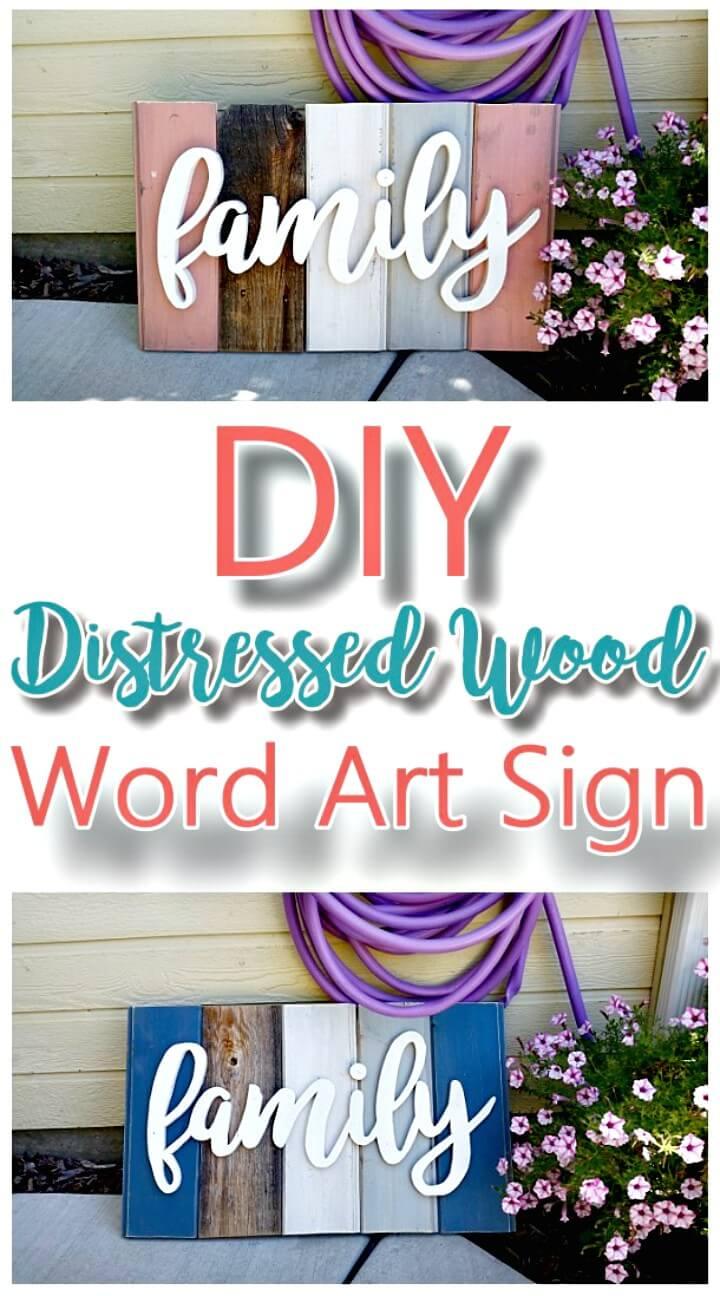 Haga su propio letrero de madera para decoración del hogar - DIY