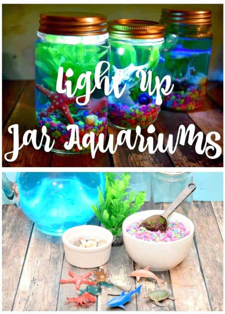 Acuarios Light Up Mason Jar