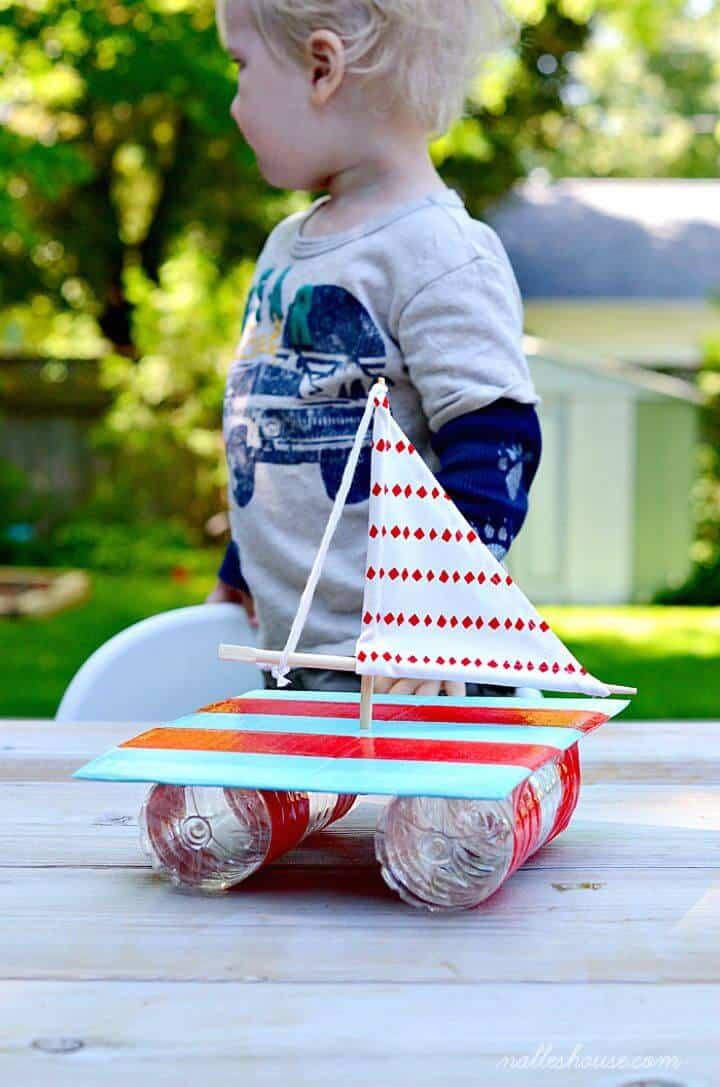 Adorable velero de bricolaje - Easy Summer Craft