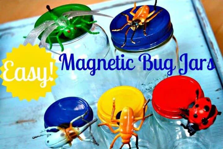 Frascos de insectos magnéticos coloridos de bricolaje