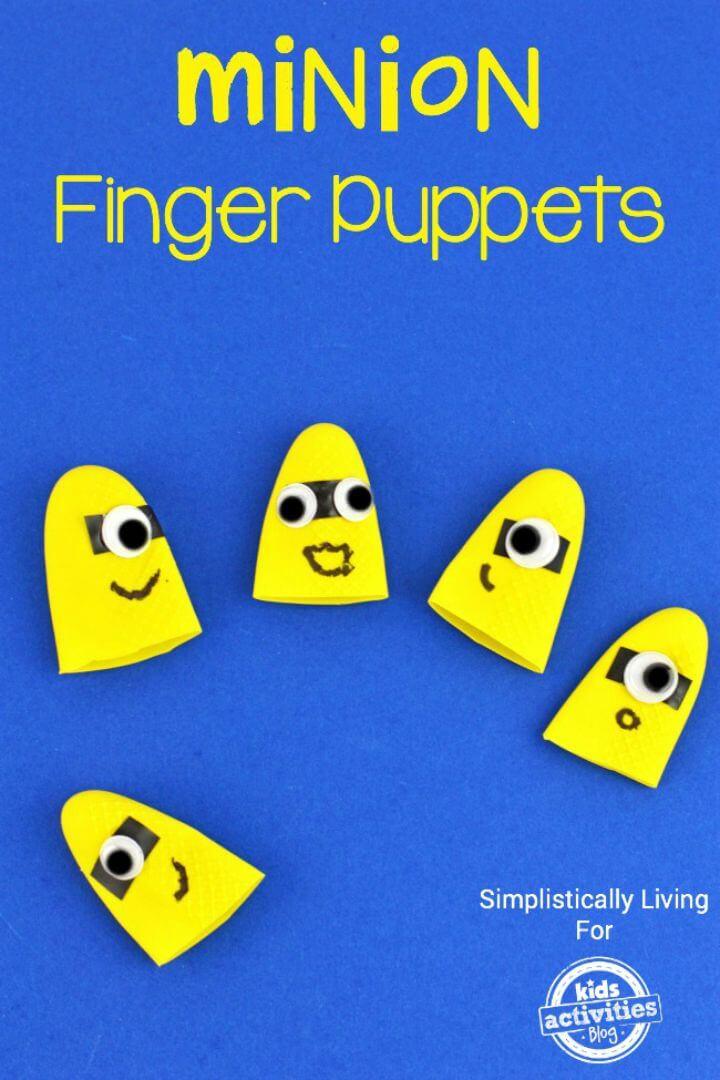 Haga sus propias marionetas de dedo de Minion - DIY