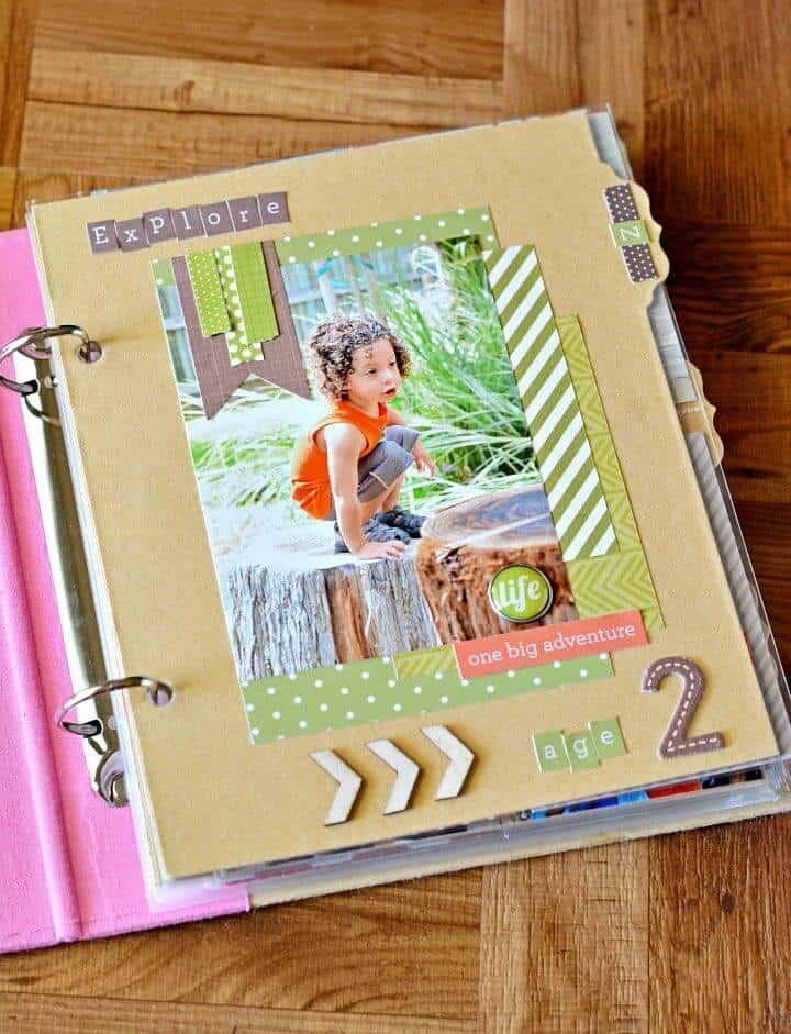 Haga su propio álbum de recortes., La reserva de álbumes de recortes también es una excelente manera de guardar sus recuerdos pasados de una manera encantadora, ¡así que también cree álbumes de fotos para guardar fotos familiares!