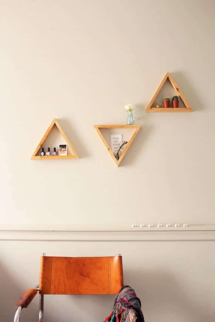Haga sus propios estantes triangulares