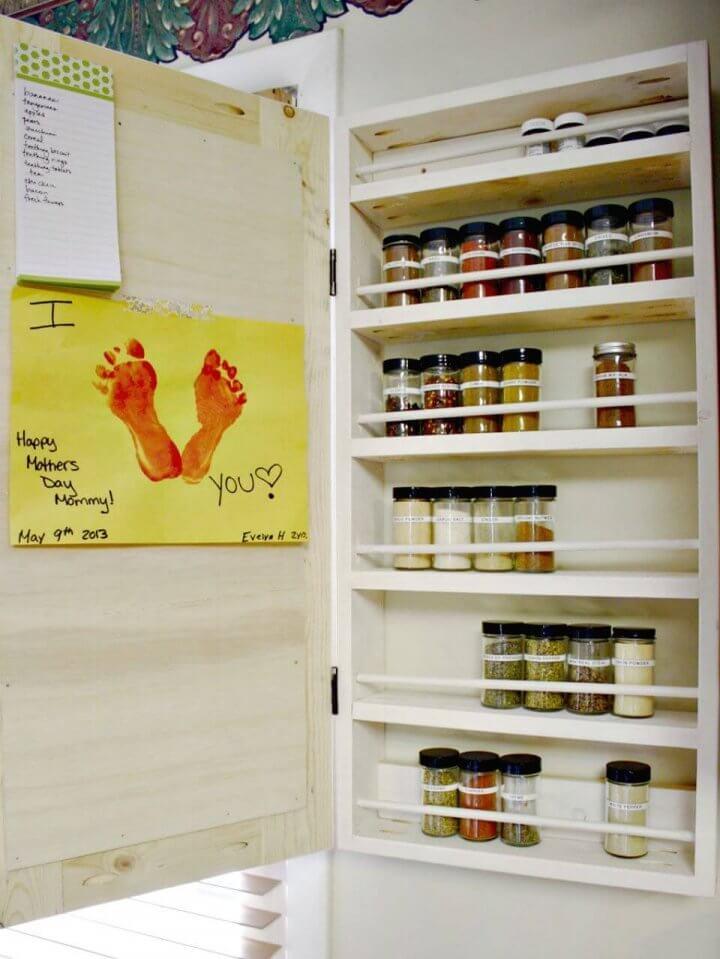 Gabinete de especias de pizarra de bricolaje para almacenamiento