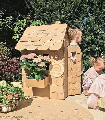 Haz felices a tus pequeños construyendo esta casa de cartón