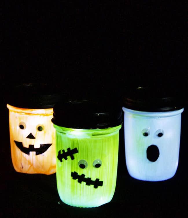 Linternas de Halloween Mason Jar