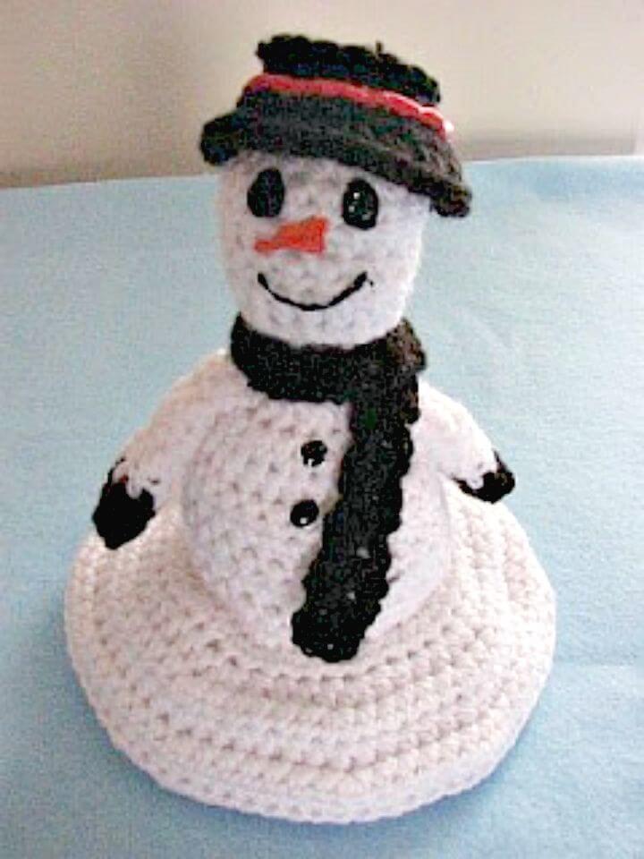 Patrón de muñeco de nieve de fusión de ganchillo gratis
