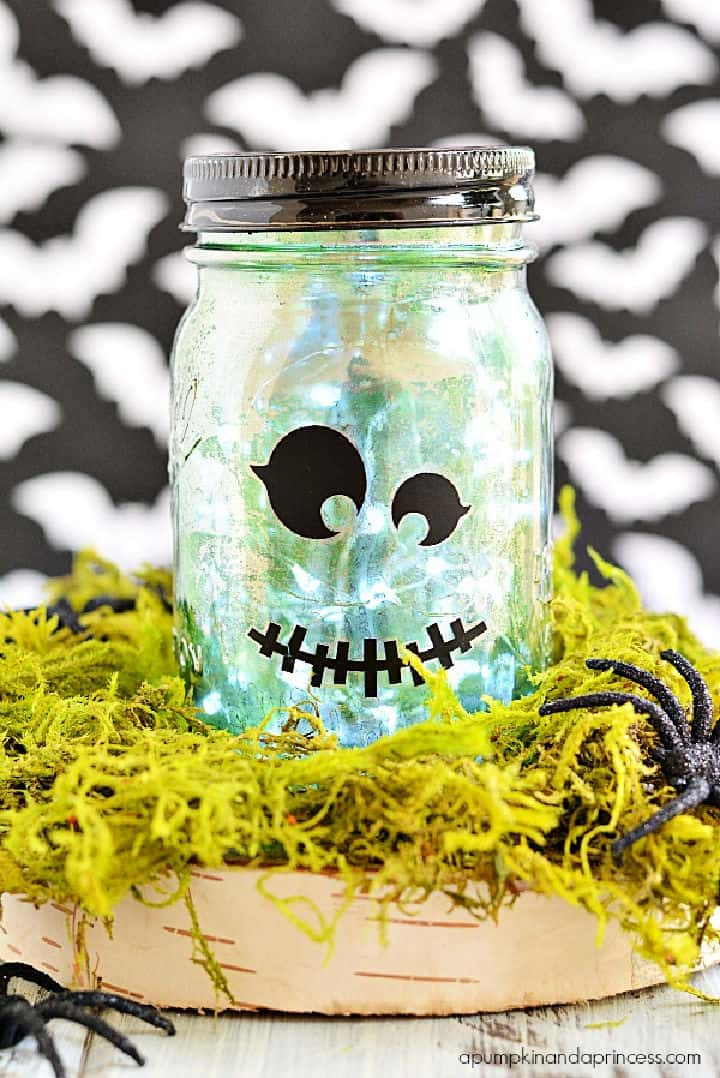 Tarro de cristal de mercurio para Halloween