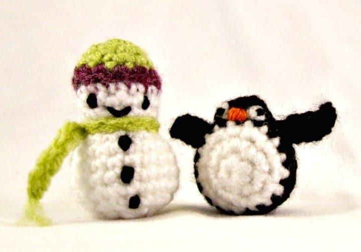 Patrón de muñeco de nieve de ganchillo gratis